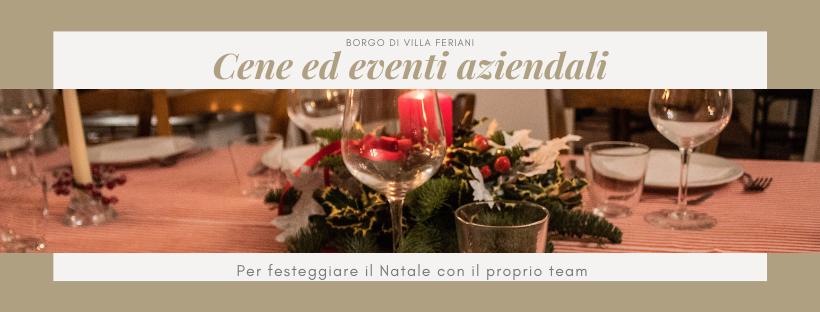 Cene aziendali al Borgo: festeggia il Natale con il tuo team in modo tradizionale!