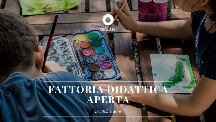 Fattoria Didattica Aperta – 13 ottobre 2019