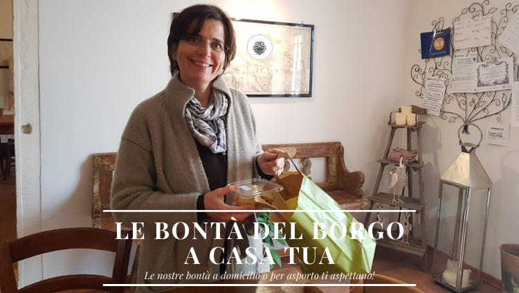 Villa Feriani: Bontà del Borgo a Domicilio e da Asporto